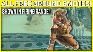 All Free Apex Legends Ground Emotes With In-Game Sound Effects & Voicelines - Season 9 Legacy