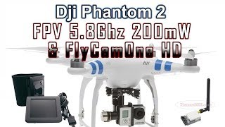 Dji Phantom 2 FlyCamOne HD GoPro Hero 3 & 8CH 5.8Ghz 200mW Wireless FPV Transmitter