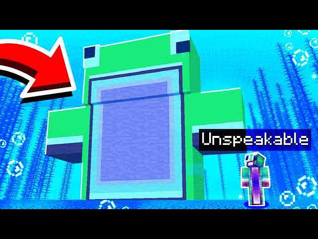 WORLD'S BIGGEST UNSPEAKABLE UNDERWATER MINECRAFT HOUSE!