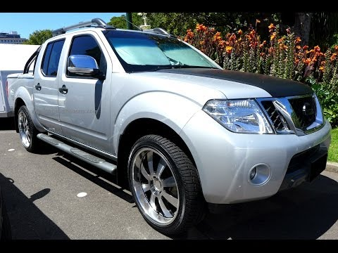 Modified Nissan Navara Frontier D40 Silver Light Truck