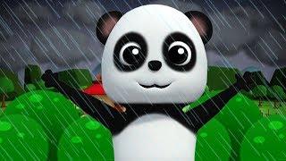chuva chuva vá embora   bebê bao panda   rima de berçário   estação chuvosa rima   Rain Rain Go Away