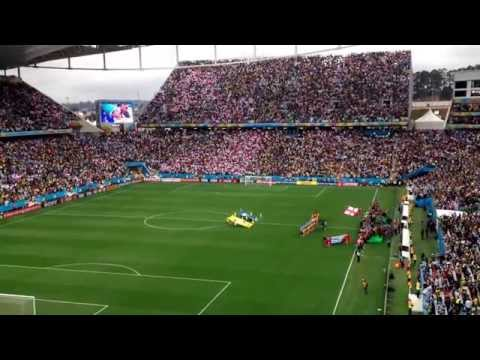 Uruguay x England at Arena Corinthians, 2014 June 19, national anthems.