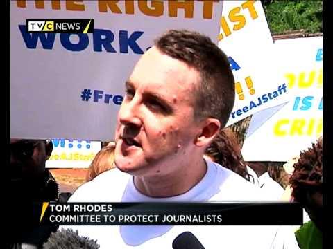 Kenyan journalists protest detention of Egypt Al-Jazeera staff