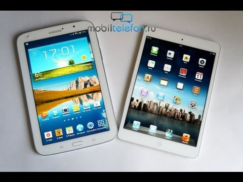 Сравнение iPad mini и Galaxy Note 8.0 (comparison)