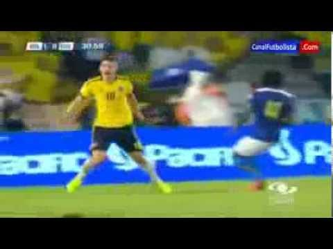 Golazo De James Rodriguez - Colombia (1) Vs Ecuador (0) - Eliminatorias Brasil 2014