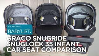 Graco SnugRide SnugLock 35 Infant Car Seat Comparison: 35 vs. 35 XT vs. 35 Elite
