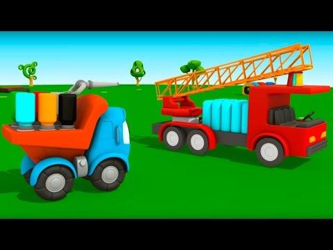 Мультфильм Грузовичок Лева - Пожарная Машина - Мультик 3D про машинки