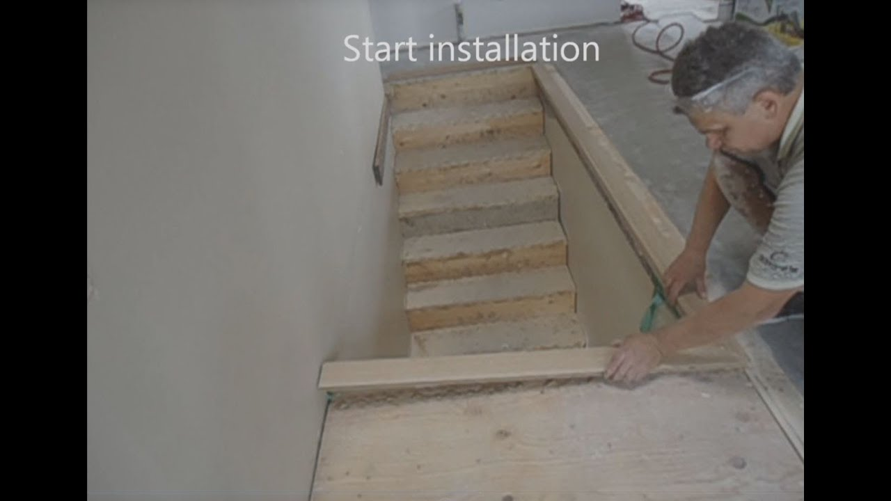 How To Install Hardwood C Stair Nosing Youtube