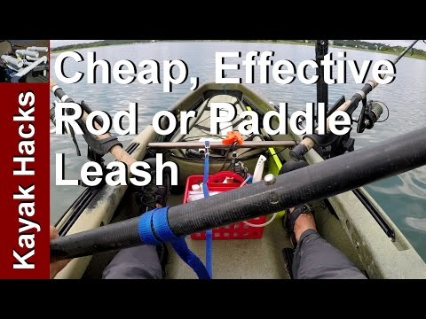 Kayak Fishing Rod and Paddle Leash for a Buck