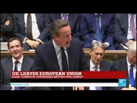 "Brexit - David Cameron addresses British Parliament: ""it is going to be difficult"""
