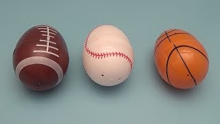 Surprise Egg Opening Memory Game for Kids! Sports!