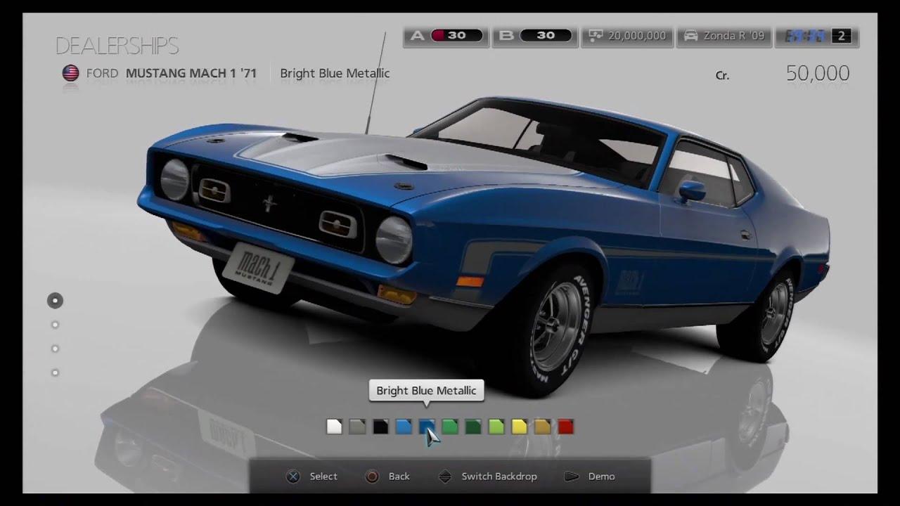 Gran Turismo 6 Dealership All Cars Youtube