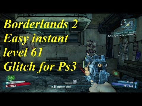 Borderlands 2 easy level 61 glitch for ps3  (fastest way)(any character)