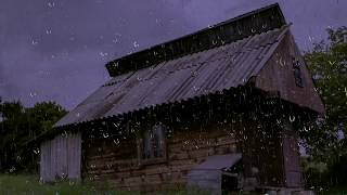 Relaxing Rain Sounds on a Tin Roof w/ Thunder for Sleep & Relaxation | 10 Hours Natural White Noise