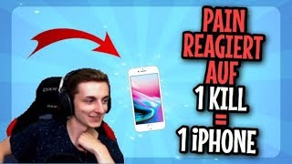 PAIN reagiert auf 1 KILL = 1 iPhone📱  (Fortnite Battle Royale)