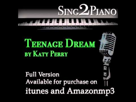 Teenage Dream - Katy Perry (Piano karaoke backing for cover...