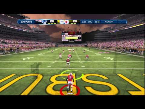 Madden 13:PATRIOTS vs STEELERS-Madden 13 ONLINE GAMEPLAY-GAME OF THE WEEK