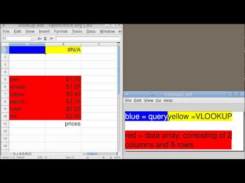 Spreadsheet Basics (VLOOKUP BASIC USAGE in OpenOffice Calc)