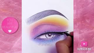 ⚡Amazing Face Chart Makeup | Eyemakeup Face Chart Compilation