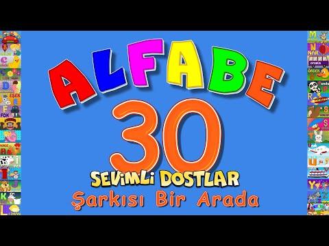 ABC Alfabe 30 Şarkı bir arada Sevimli Dostlar Eğitici Çocuk Şarkıları