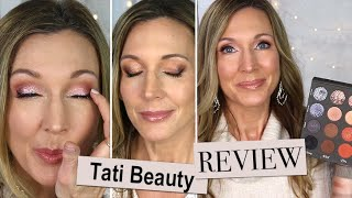 Tati Beauty Textured Neutrals Palette Review on Mature Skin + 3 Looks!