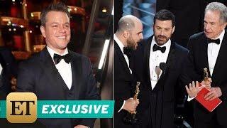 EXCLUSIVE: Matt Damon Roasts Jimmy Kimmel After Oscars Flub: