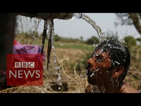 A heatwave sweeping India has killed more than 500 people, with most of the deaths in the southern states of Telangana and Andhra Pradesh. With temperatures reaching 48 C (118F), authorities are urging people to stay indoors and drink plenty of water.   Subscribe to BBC News HERE http://bit.ly/1rbfUog Check out our website: http://www.bbc.com/news  Facebook: http://www.facebook.com/bbcworldnews  Twitter: http://www.twitter.com/bbcworld Instagram: http://instagram.com/bbcnews