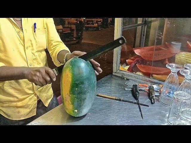 FRUIT NINJA of INDIA  Amazing Fruits Cutting Skills  Indian Street Food