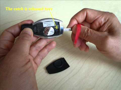 How to change E-Class Mercedes-Benz smart key battery