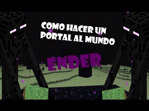 Minecraft Como hacer un portal al mundo Enderman