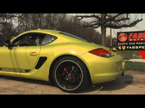 Porsche Cayman R Fabspeed Race Exhaust Installation