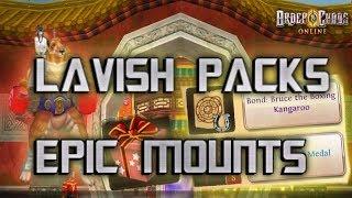 Order & Chaos online - OPENING LAVISH PACKS - EPIC MOUNTS!?