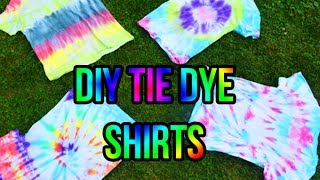 Easy D.I.Y Tie Dye Tee's | 4 Different Ways!