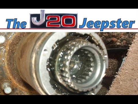 Jeepster removing brake rotor on a 1990 Chevy Suburban 1500 4x4