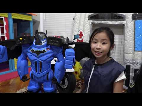 Pretend Play POLICE with Ryans Toy Review Toy VS ROBOT CAR