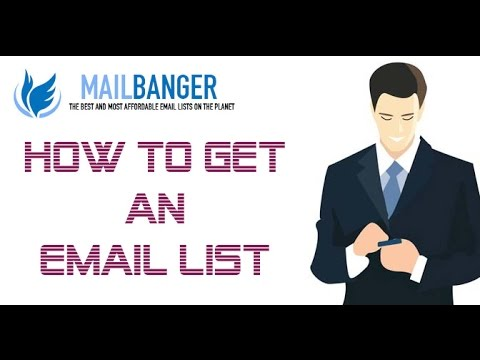 How to get an email list