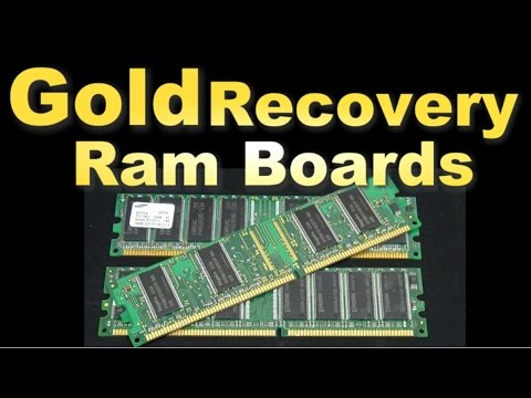 Gold Recovery ( Scrapping Ram finger boards)