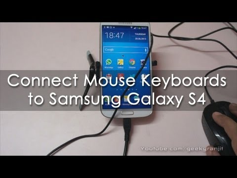 Connect Mouse Keyboards Controllers to Samsung Galaxy S4