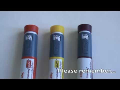 KwikPen: for injecting Humalog, Humalog Mix 25 and Humalog Mix 50