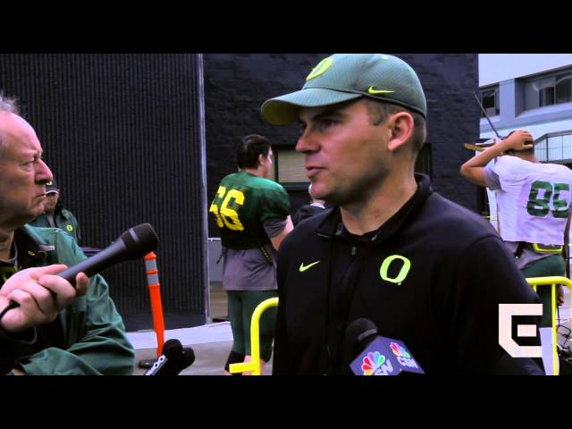 Coach Helfrich on spring game