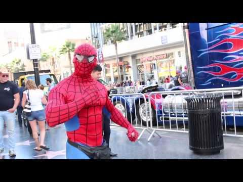 Creepy Spider-Man hits on me on Hollywood Blvd