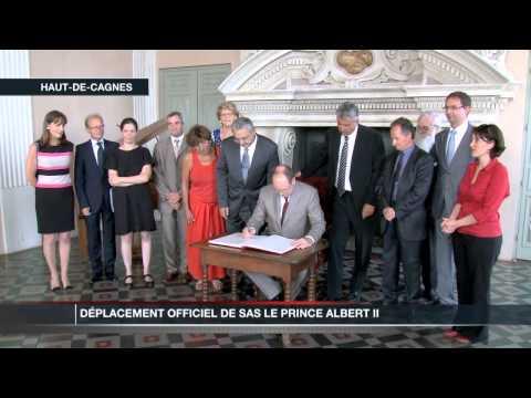 Déplacement officiel de SAS Le Prince Albert II au Haut-de-Cagnes