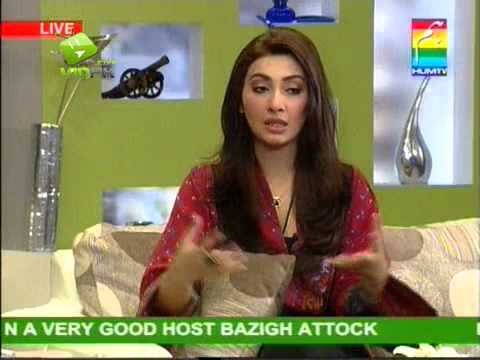 Ayesha Khan in Morning With Hum Tv   P 3