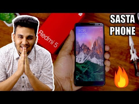 Redmi 5 Unboxing in Hindi - Xiaomi Ka Naya Budget Phone!