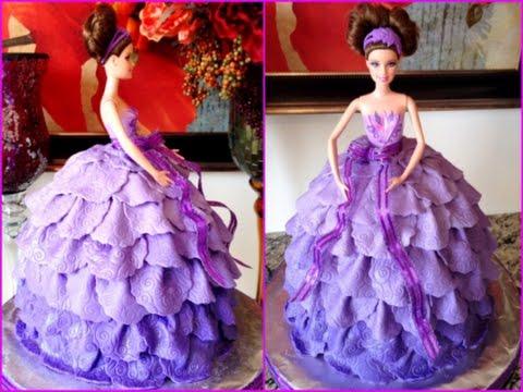 Doll Cake Dresses Barbie Doll Fondant Dress Cake