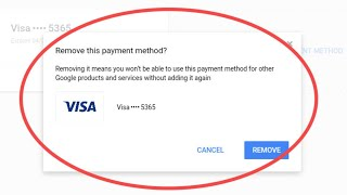 How To Remove Payment Method From Google Play Store||Delete Credit card Details