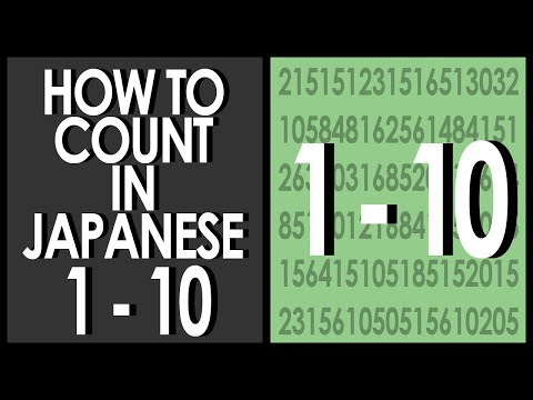 How to Count In Japanese 1-10
