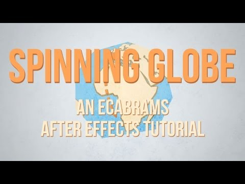 Spinning Globe - Adobe After Effects tutorial