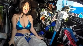 BOOBKHANA!  Part 1:  Bikini Babes Ride with Ken Block in Nagoya, Japan.