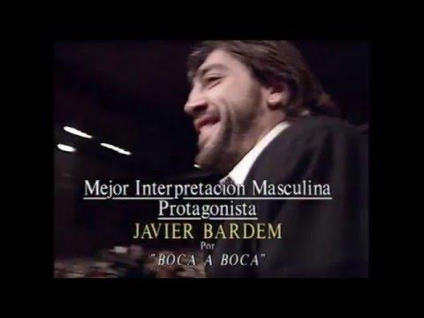 Javier Bardem recibe el Goya a Mejor Actor Protagonista en 1996